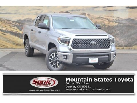 Silver Sky Metallic Toyota Tundra SR5 CrewMax 4x4.  Click to enlarge.