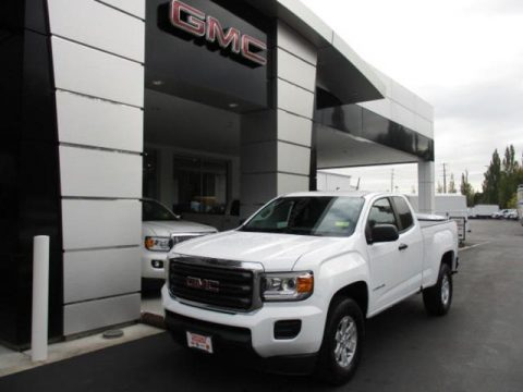 Summit White GMC Canyon Extended Cab.  Click to enlarge.