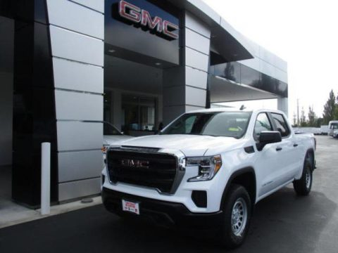 Summit White GMC Sierra 1500 Crew Cab 4WD.  Click to enlarge.
