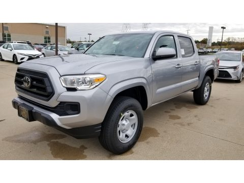 Silver Sky Metallic Toyota Tacoma SR Double Cab 4x4.  Click to enlarge.