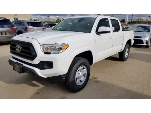 Super White Toyota Tacoma SR Double Cab 4x4.  Click to enlarge.