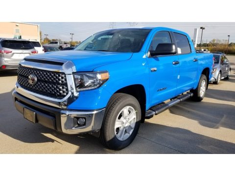 Cavalry Blue Toyota Tundra SR5 CrewMax 4x4.  Click to enlarge.