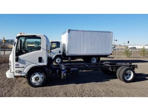 Arctic White Isuzu N Series Truck NRR Chassis.  Click to enlarge.