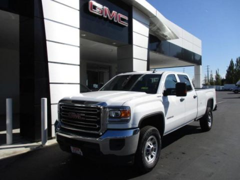Summit White GMC Sierra 3500HD Crew Cab 4WD.  Click to enlarge.