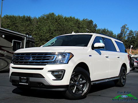 White Platinum Metallic Tri-Coat Ford Expedition XLT 4x4.  Click to enlarge.