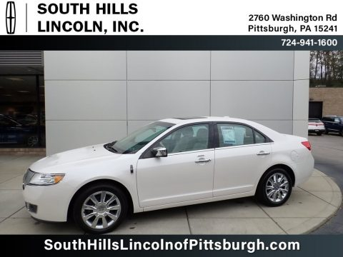 White Platinum Metallic Tri-Coat Lincoln MKZ FWD.  Click to enlarge.