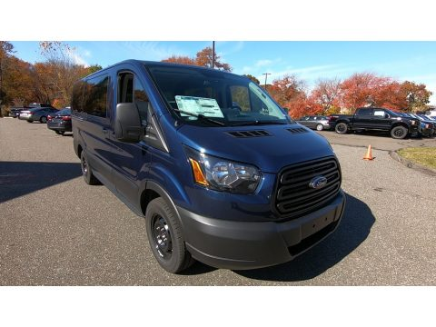 Blue Jeans Ford Transit Passenger Wagon XL 150 LR.  Click to enlarge.