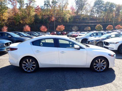 Snowflake White Pearl Mica Mazda MAZDA3 Select Sedan AWD.  Click to enlarge.