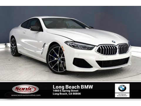 Alpine White BMW 8 Series 840i Coupe.  Click to enlarge.