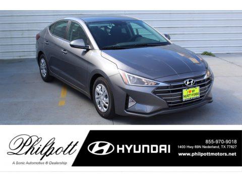 Machine Gray Hyundai Elantra SE.  Click to enlarge.