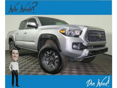 Silver Sky Metallic Toyota Tacoma TRD Sport Double Cab 4x4.  Click to enlarge.
