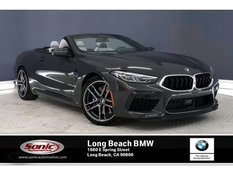 Dravit Grey Metallic BMW M8 Convertible.  Click to enlarge.