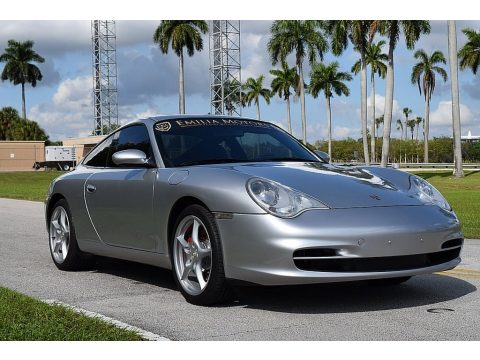 Arctic Silver Metallic Porsche 911 Carrera Coupe.  Click to enlarge.