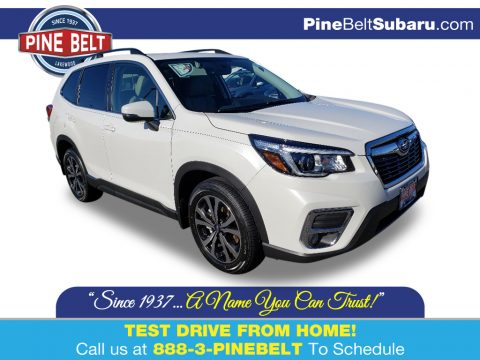 Crystal White Pearl Subaru Forester 2.5i Limited.  Click to enlarge.