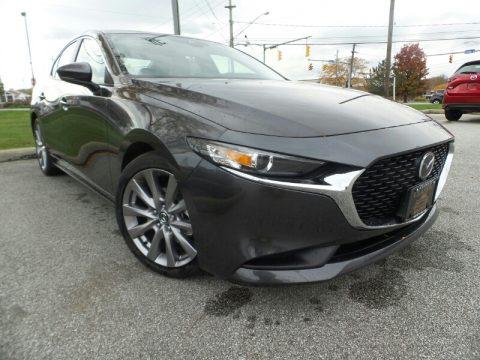 Machine Gray Metallic Mazda MAZDA3 Select Sedan.  Click to enlarge.