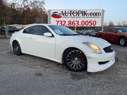Ivory White Pearl Infiniti G 35 Coupe.  Click to enlarge.