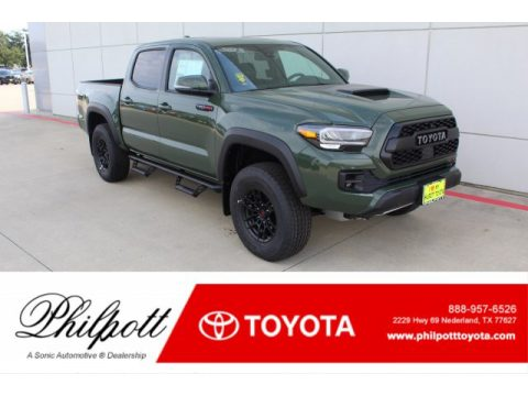 Army Green Toyota Tacoma TRD Pro Double Cab 4x4.  Click to enlarge.