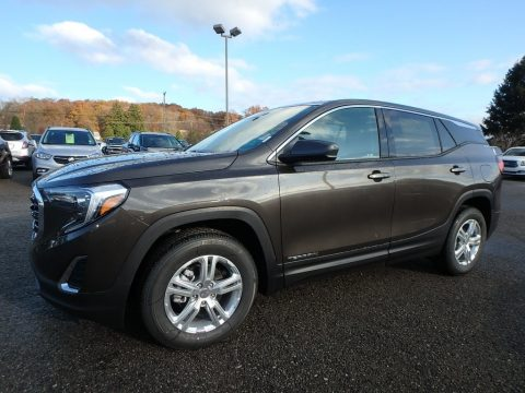 Smokey Quartz Metallic GMC Terrain SLE AWD.  Click to enlarge.