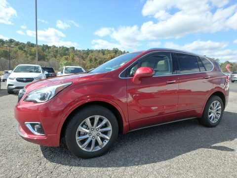 Chili Red Metallic Buick Envision Essence AWD.  Click to enlarge.