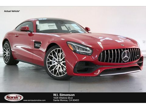 Jupiter Red Mercedes-Benz AMG GT Coupe.  Click to enlarge.