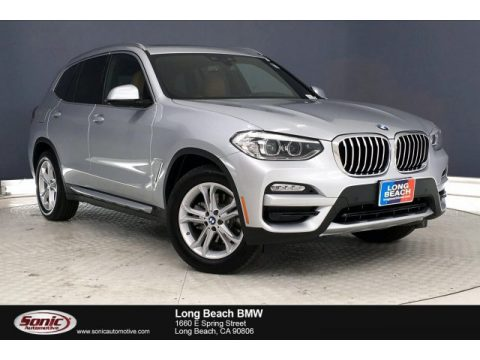 Glacier Silver Metallic BMW X3 sDrive30i.  Click to enlarge.