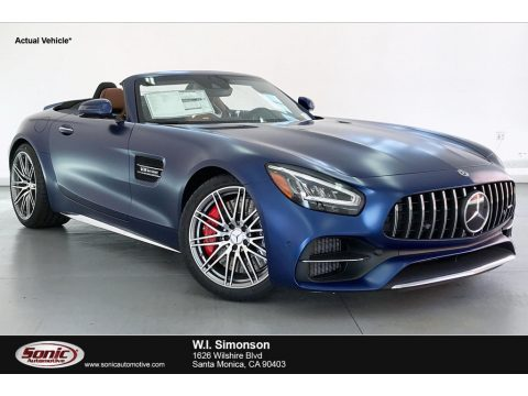 designo Brilliant Blue Magno (Matte) Mercedes-Benz AMG GT C Coupe.  Click to enlarge.