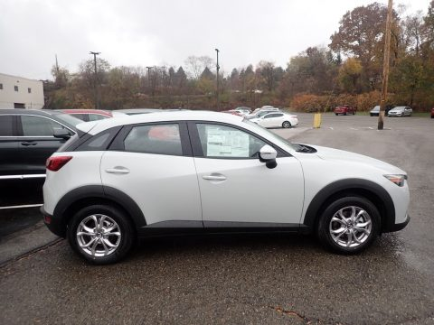 Snowflake White Pearl Mica Mazda CX-3 Sport AWD.  Click to enlarge.