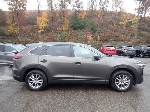 Machine Gray Metallic Mazda CX-9 Touring AWD.  Click to enlarge.