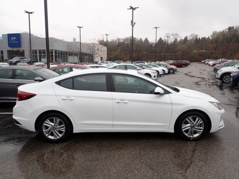 Quartz White Pearl Hyundai Elantra Value Edition.  Click to enlarge.