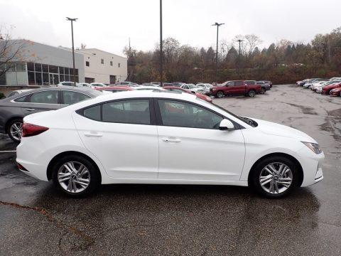 Quartz White Pearl Hyundai Elantra Value Edition.  Click to enlarge.