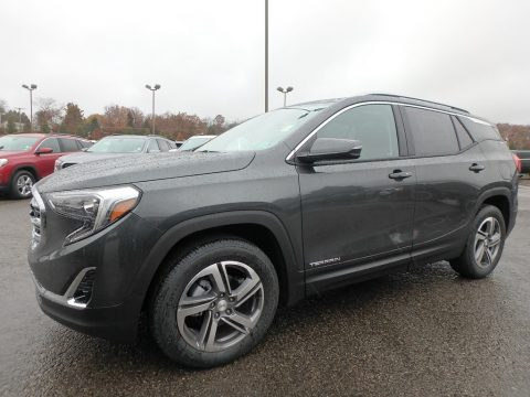 Graphite Gray Metallic GMC Terrain SLT AWD.  Click to enlarge.