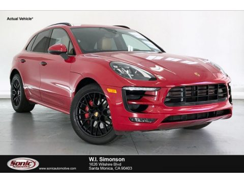 Carmine Red Porsche Macan GTS.  Click to enlarge.