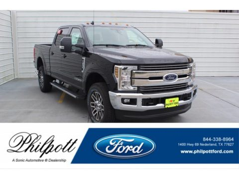 Agate Black Ford F250 Super Duty Lariat Crew Cab 4x4.  Click to enlarge.
