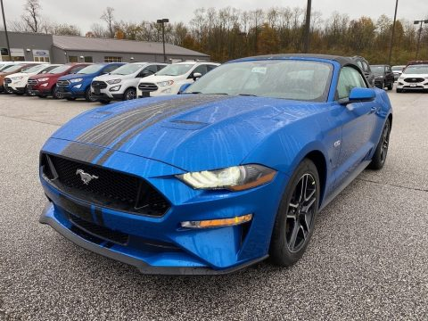 Velocity Blue Ford Mustang GT Premium Convertible.  Click to enlarge.