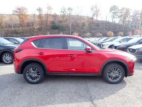 Soul Red Crystal Metallic Mazda CX-5 Touring AWD.  Click to enlarge.