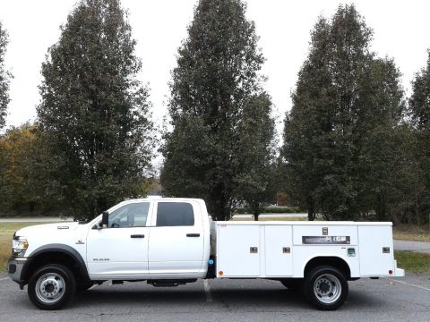 Bright White Ram 5500 Tradesman Crew Cab 4x4 Chassis.  Click to enlarge.