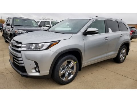 Celestial Silver Metallic Toyota Highlander Limited Platinum AWD.  Click to enlarge.