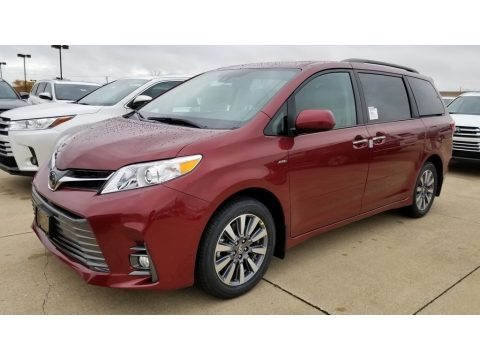 Salsa Red Pearl Toyota Sienna XLE AWD.  Click to enlarge.
