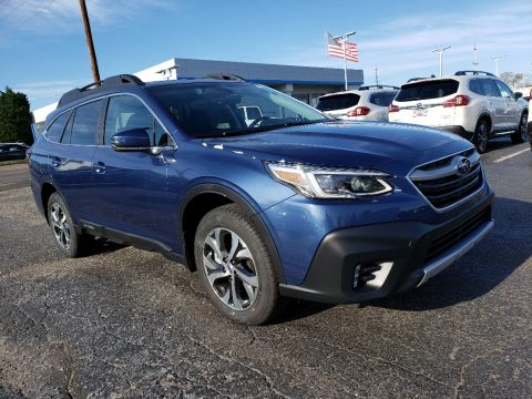 Abyss Blue Pearl Subaru Outback 2.5i Limited.  Click to enlarge.