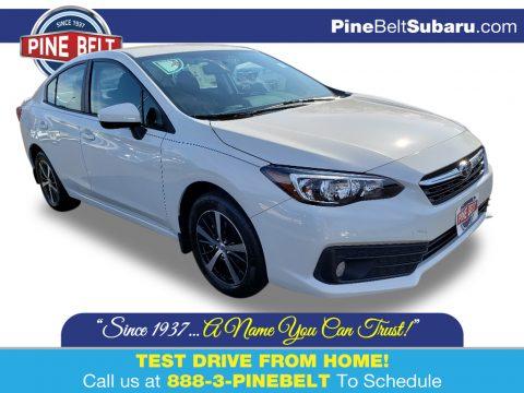Crystal White Pearl Subaru Impreza Premium Sedan.  Click to enlarge.