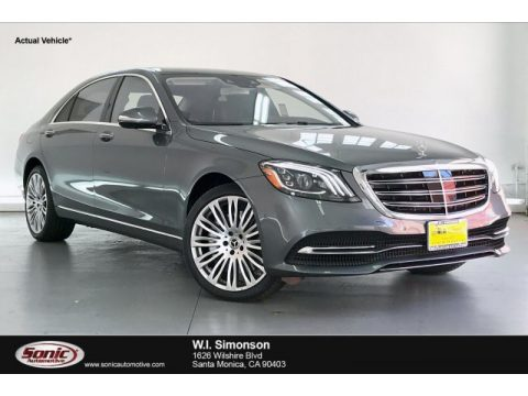 Selenite Grey Metallic Mercedes-Benz S 560 Sedan.  Click to enlarge.