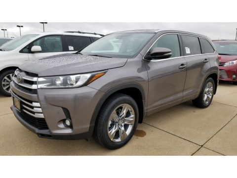 Predawn Gray Mica Toyota Highlander Limited Platinum AWD.  Click to enlarge.