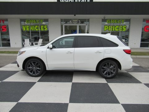 White Diamond Pearl Acura MDX A Spec SH-AWD.  Click to enlarge.