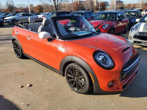 Solaris Orange Metallic Mini Convertible Cooper S.  Click to enlarge.