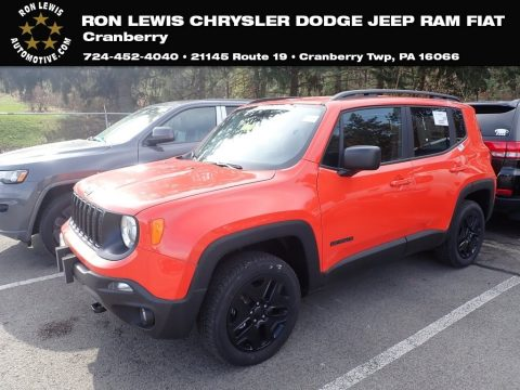Omaha Orange Jeep Renegade Sport 4x4.  Click to enlarge.