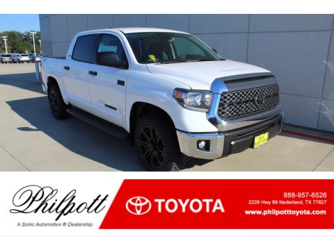 Super White Toyota Tundra TSS Off Road CrewMax.  Click to enlarge.