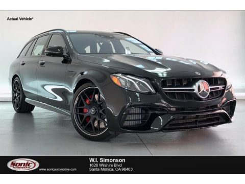 Obsidian Black Metallic Mercedes-Benz E 63 S AMG 4Matic Wagon.  Click to enlarge.