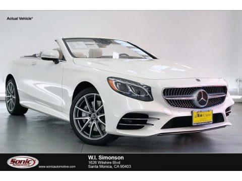 designo Diamond White Metallic Mercedes-Benz S 560 Cabriolet.  Click to enlarge.