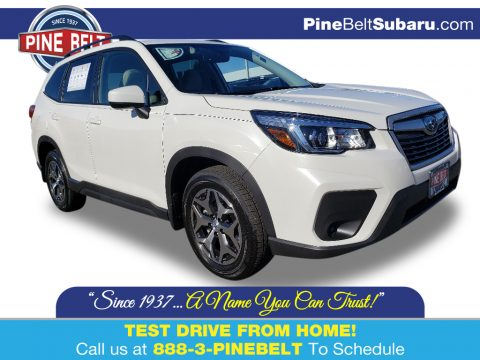 Crystal White Pearl Subaru Forester 2.5i Premium.  Click to enlarge.