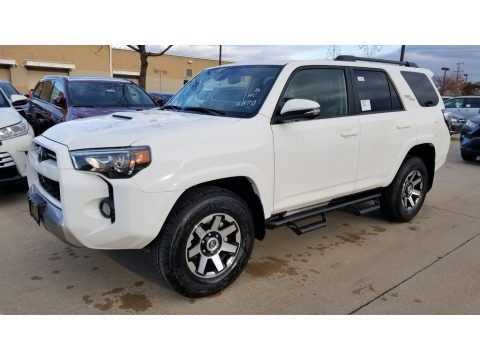 Super White Toyota 4Runner TRD Off-Road Premium 4x4.  Click to enlarge.
